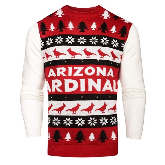 timeless design 930db b59a0 Arizona Cardinals Light Up Christmas Sweater NWT L NWT